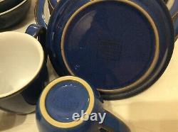 Lovely Denby Imperial Blue Dinner Set. New Unused