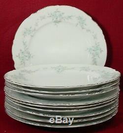 MIKASA china BARBIZON 9289 pattern Set of Eleven (11) Dinner Plates 10-3/8