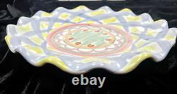 MacKenzie-Childs Aalsmeer, Blue Lines Dinner Plate 11 1/8 Collectable