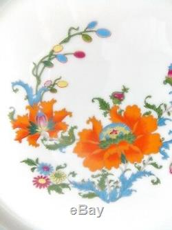 Magnificent Vieux Chine French Limoges Dinner Plate Orange Blue White