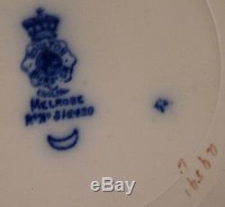 Melrose Flow Blue Scroll Edge Dinner Plate By (royal) Doulton Burslem 1898