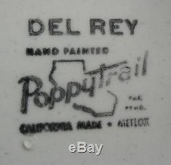 Metlox Poppytrail Del Rey Dinner Salad Plate Soup Bowl Cup Retro MID Century 20