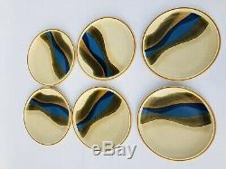 Mikasa Stylekraft Blue River Japan Retired 4 10.5 Plates & 6 7.5 Plates C0901