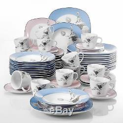 Modern Kitchen Dinnerware Dinner Set Plates Bowls Tableware Dining Service Sets
