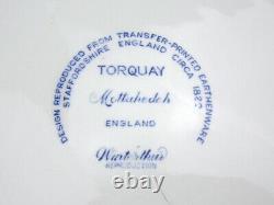 Mottahedeh TORQUAY Winterthur 10.5 Dinner Plate Blue Transferware Shells
