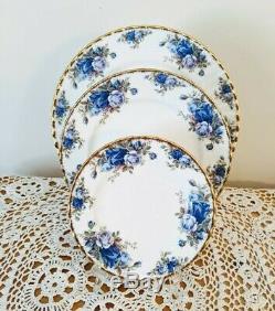 Multi-Piece lot Blue Moonlight Rose by Royal Albert