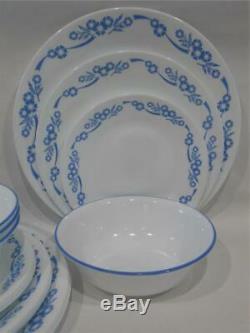 NEW 16-pc Corelle CORNFLOWER BLUE DINNERWARE SET Dinner Lunch PLATES 18-oz BOWLS