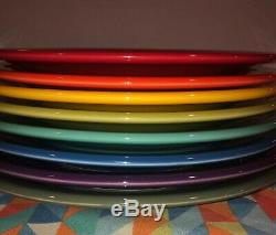 New Fiesta 8 Dinner Plates Bright MIX Color Set 10.5 Fiestaware Free Shipping