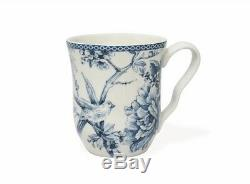 Porcelain Blue White Dishes Plates Bowl Mug Bird Dinnerware Service Set 16