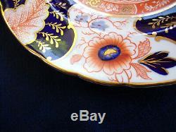 ROYAL CROWN DERBY BATTERSEA IMARI (c. 1937) DINNER PLATE- SCALLOPED! MINT