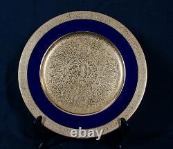 Rare Antique Lenox Cobalt Blue & Gold Smooth 1830v58b1 Dinner Plate 10 1/2 Mint