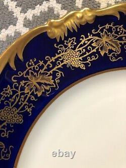 Rare Vintage Coalport Hazelton Cobalt Blue & Gold Dinner Plate