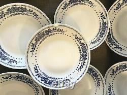 Richard Ginori Italy 10 Savona Blue White Dinner Plates Set 10 RARE CLEAN WOW