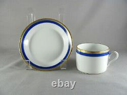 Richard Ginori Palermo Blue Place Setting, 5pc, dinner salad bread cup