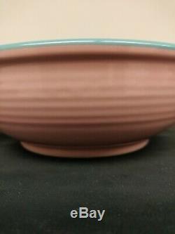 Rio Stoneware Dinner & Salad Plates & Bowls 12pcs Pink & Turquoise Servs 4 MCM