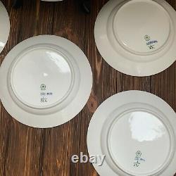 Royal Copenhagen 6 dinner plate 1/571 1/566 blue fluted half lace dinner plate