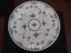 Royal Copenhagen Blue Flute Open Lace Dinner Plates 12 Available