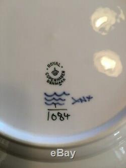 Royal Copenhagen Blue Fluted Full Lace 1084 10 Dinner Plates (6) First Quality