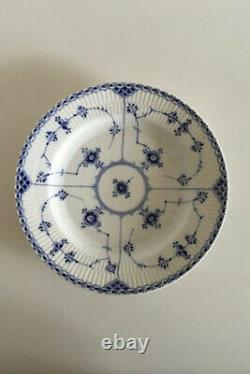 Royal Copenhagen Blue Fluted Half Lace Plate #571