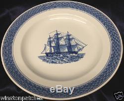Royal Copenhagen Denmark Marine 4606/948 978 Dinner Plate 9 7/8 Blue Ship Scene