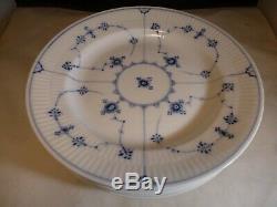 Royal Copenhagen Luncheon Plate Blue Fluted Plain 1/176 Set 5 1st Qual