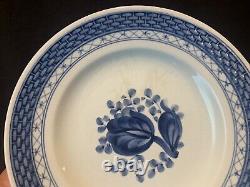 Royal Copenhagen Tranquebar Blue 30 Pc 6 Place Settings Dinner Salad Bread Plate