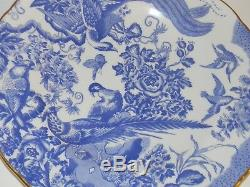 Royal Crown Derby A1309 Blue Aves Dinner Plate 10 1/2 English Bone China 1984
