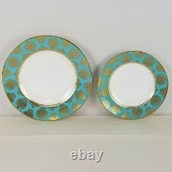 Royal Crown Derby Bristol Belle Turquoise dinner and salad plate