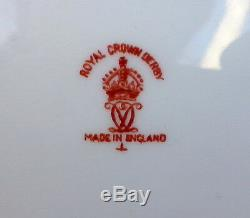 Royal Crown Derby Dinner Plates 2150 IMARI FLOW BLUE China England Set of 6