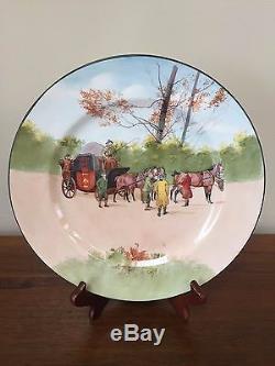 Royal Doulton COACHING DAYS BONE BLUE SKY Dinner Plate