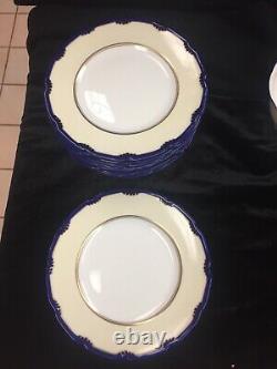 Royal Doulton Marlborough Cobalt Set 48 Pieces Dinner, Bread Plates Cup & Saucer
