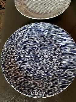 Royal Doulton Pacific Dinner Plates 9.5 Blue Set Of 6