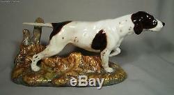Royal Doulton Porcelain Large Pointer Dog HN2624 Peggy Davies