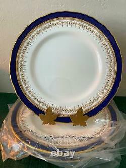 Royal Worcester REGENCY BLUE Dinner Plates x4 Free Shipping Unused
