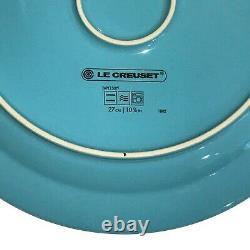 SET OF 6 New Le Creuset Stoneware 11 Dinner Plate Caribbean Blue Shiny 27CM