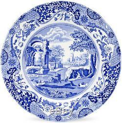 SPODE BLUE ITALIAN 4 DINNER PLATES 27cm NEWithUNUSED
