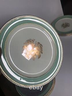 SPODE / TIFFANY & CO. New York COPELAND CHINA 12 DINNER PLATES Gold Edge