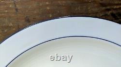 Seltmann Rainbow Blue Lot Of Four Dinner Plates Minor Wear Bavaria Germany