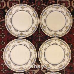 Set 12 Antq Minton England Princess Hand Painted & Jeweled Dinner Plates 10