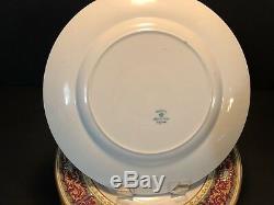 Set 12 Johnson Brothers Pareek 10 3/4 Dinner Plates Blue Enameled Flowers