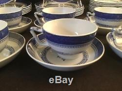 Set 36 Pieces Service For 6+ Spode Copeland Old Bedford Blue Dinner Salad Plate