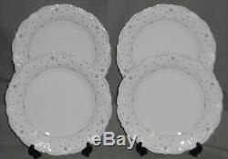 Set (4) TIRSCHENREUTH Baronesse FLEUR DE LIS BLUE PATTERN Dinner Plates GERMANY