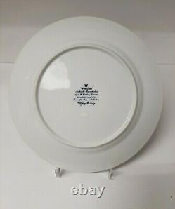 Set 6 George Briard Blue & White Pavillion Dinner Plates Pagodas Amazing & Rare