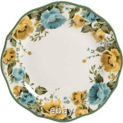 Set Dinnerware 12 Piece Dishes Plate Mug Dinner Service Floral Country Style NEW