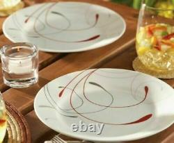 Set Dinnerware 16 Piece Dishes Plate Mug Dinner Service Garden Country Style