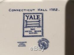 Set Of 10 Wedgwood Yale College 1931 Commemorative Blue Dinner Plates Ivy League