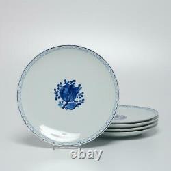 Set Of (5) Royal Copenhagen Denmark Tranquebar Blue 2781 Dinner Plates, 10