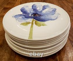 Set of 10 Royal Stafford BLUE POPPY - 11 Dinner Plates Plate Set