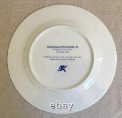 (Set of 2) CALAMITYWARE DINNER PLATES #10 & #7 Don Moyer Excellent Condition
