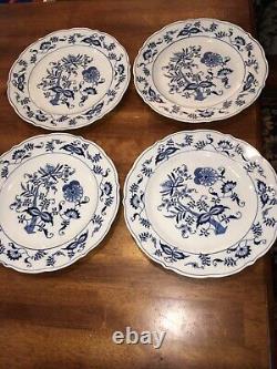 Set of 4 Blue Danube Banner Mark Design Patent 99183 Dinner Plates 10.25 EC